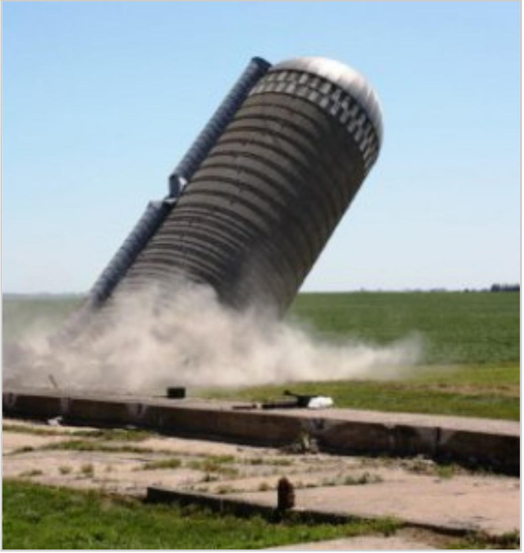 Break down the corn silos!